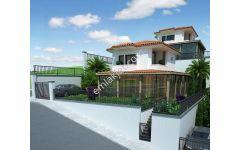 Merkez Burgaz mevkinde deniz manzaralı 2+1 müstakil villalar
