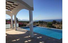 3 yatak odalı+havuzlu+dağ deniz manzarası Satılık villa ref1397a