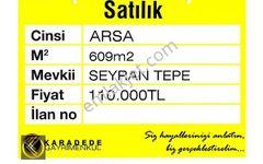 SEYRAN TEPE DE SATILIK 609m2 VİLLA ARSASI