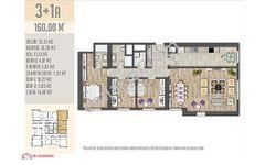 Ödül İstanbulda Kelepir 160 m2 peyzaj cephe satılık 3+1 daire