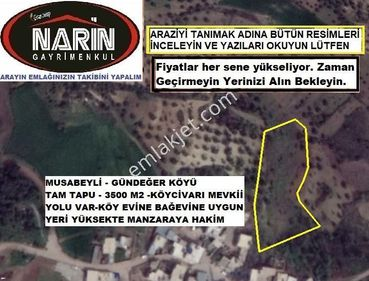 Kilis Musabeyli GÜNDEĞER Köyünde Köy Civarında Ev yapımına Uygun