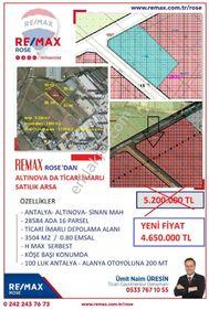 ALTINOVA DA ..Projesi hazır.. 3504 m2 ..TİCARİ İMARLI ARSA
