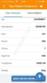 ŞAHİNBEY-GENEYİKTE SATILIK ARAZİ  M2 -145 TL