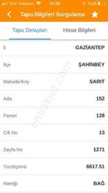 ŞAHİNBEY-SARIT'TA SATILIK ARAZİ- M2 Sİ  50 TL
