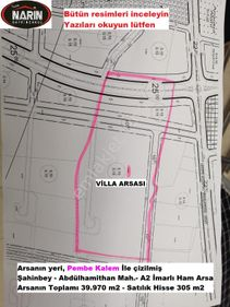 Şahinbey ABDÜLHAMİTHAN da A2 İmarlı Ham Arsa -villa sitesi yeri
