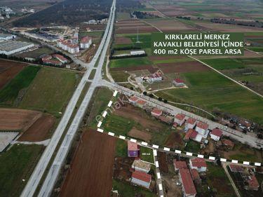 KIRKLARELİ KAVAKLI BELEDİYESİ 400 m2 KÖŞE PARSEL ARSA