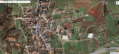 Kestanelikte satılık 1,100 m2 arsa Çaplı Çevrili Köyiçi
