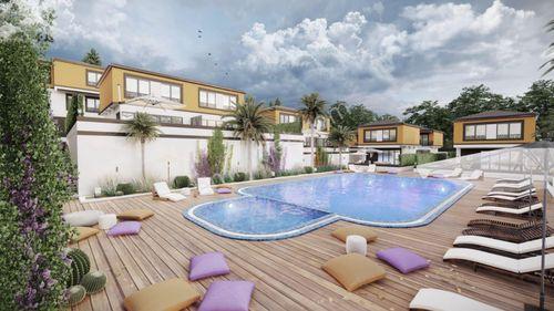 didim akbükte havuzlu site içerisinde satılık villa