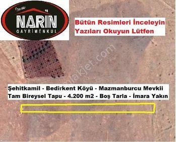 Şehitkamil BEDİRKENT Köyünde İmara yakın Ekilir biçilir Tarla
