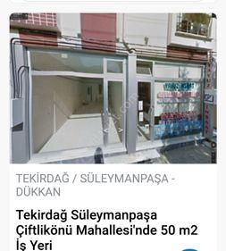 TEKİRDAĞ ÇİFTLİKÖNÜ MAH SATILIK 50 m2 İŞYERİ