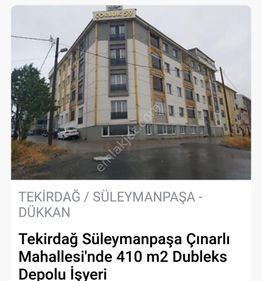 TEKİRDAĞ ÇINARLI MAH SATILIK 410 m2 DUBLEKS İŞYERİ
