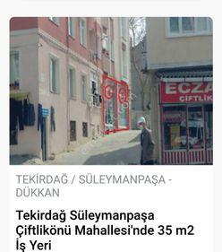 TEKİRDAĞ ÇİFTLİKÖNÜNDE SATILIK 35 m2 İŞYERİ