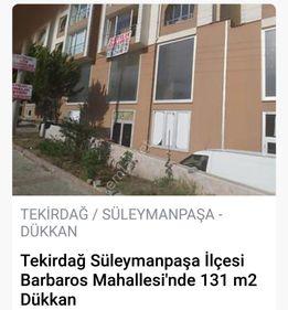 TEKİRDAĞ BARBAROS KORU EVLERİNDE SATILIK 131 m2 İSKANLI İŞYERİ