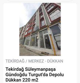 TEKİRDAĞ TURGUT MAH SATILIK İSKANLI DEPOLU 220 m2 İŞYERİ
