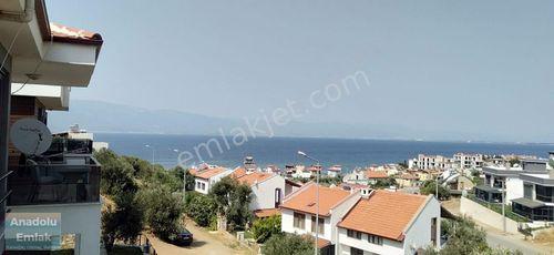 Pelitköy sahilde full deniz manzaralı villa