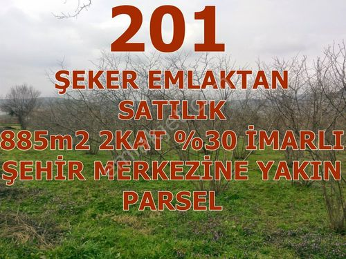 201- ŞEKER EMLAKTAN NURİYE MAHALLESİNDE 885m2 SATILIK PARSEL