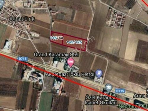 GRAND KARAMAN OTEL ARKASI 43.000 m2 SATILIK FIRSAT YER