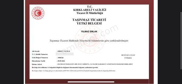 BABAESKİ HAZİNEDAR KÖYÜ 3.700 m2 TARLA