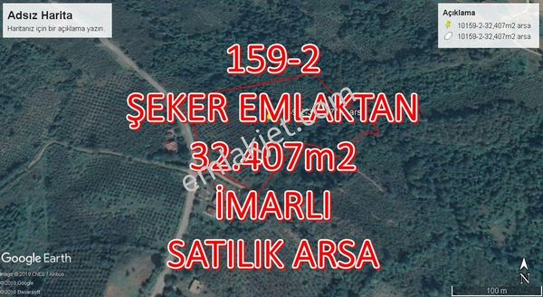 159-2-ŞEKER EMLAKTAN 32.407m2 SATILIK ARSA