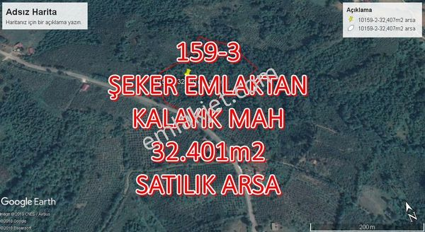 159-3-ŞEKER EMLAKTAN 32.401m2 SATILIK ARSA