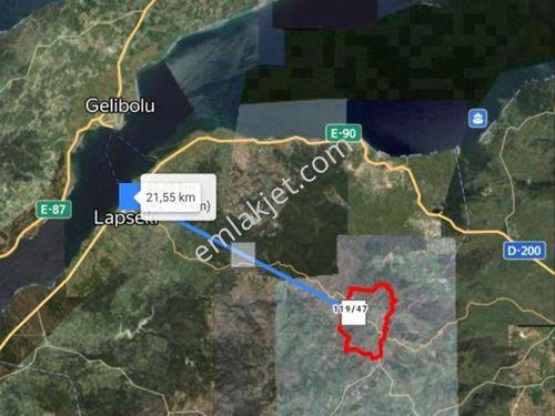 Çanakkale Lapseki Beyçayır  Köyünde 600 M2 Bahçe