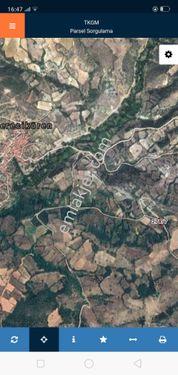 yatırımlık tarla köye yakın resmi yola cephe 1066 M2 takas olur