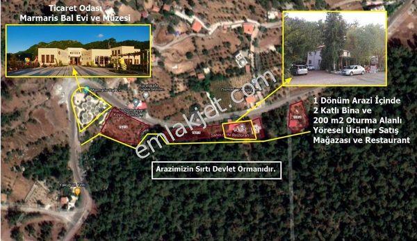 Marmaris Osmaniye'de Bal Evi Yanı Faal Restaurant ve 2 Katlı Bina