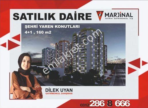 Şehri Yaren Kon. 4+1 Güney cephe şehir manzaralı satılık daire