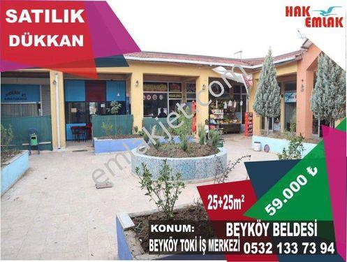 Hak Emlaktan Beyköy Toki İş Merkezinde Bodrumlu Satılık Dükkan
