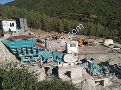 Arya emlaktan satılık kalker(mıcır) ocağı kırma eleme tesisi.