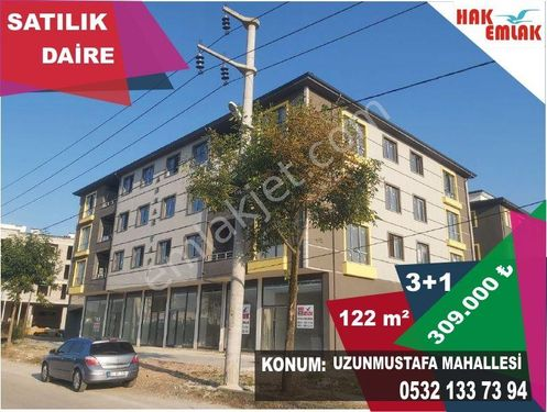 Hak Emlak'tan Uzunmustafa Mh.de Satılık 3+1 122 m² Daire