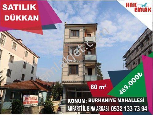 Hak Emlak'tan Burhaniye Mahallesin'de Satılık 80 m2 Dükkan