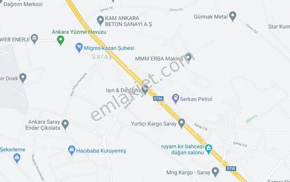 Sahibinden Kahramankazan Saray'da 25.000 m2 Tek Tapu Arsa