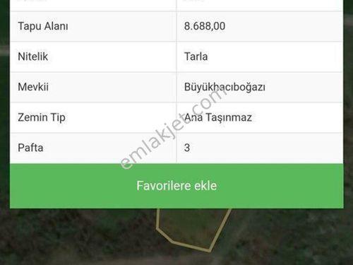 Çanakkale Biga Hacıköy 8688m2 tarla