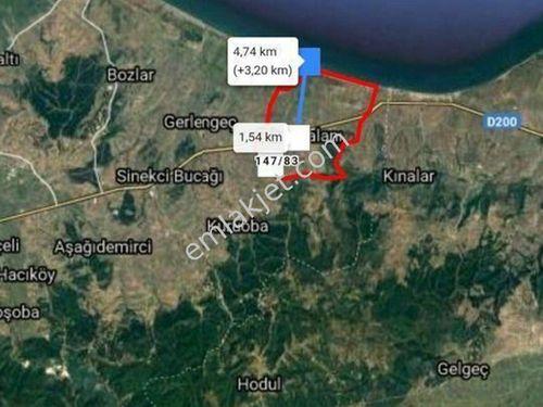 Çanakkale Biga Güvemalan 8795 M2 tarla