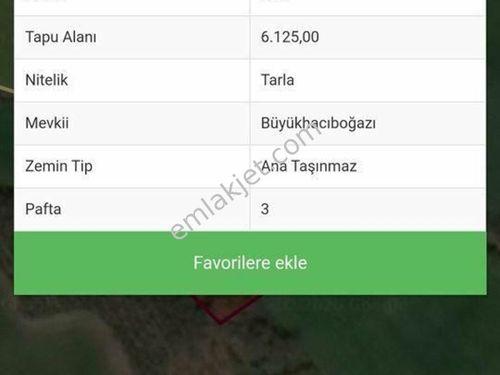 Çanakkale Biga Hacıköy 6125m2 tarla