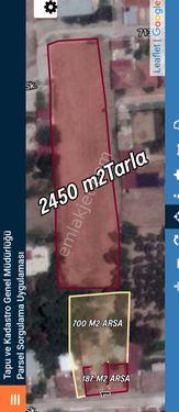 SATİLİK ARSA VE TARLA ( iki ARSA 700+187 M2 ve 2450 M2 TARLA)