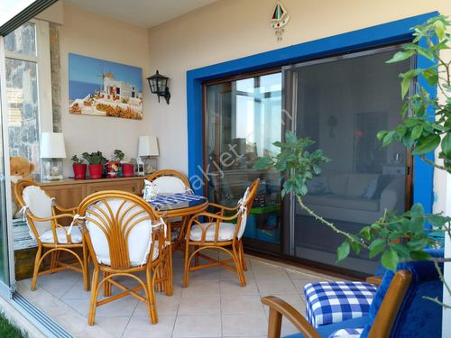 Yalıkavak Koyunbaba'da Deniz Manzaralı 2+1 Bahçe Katı Daire