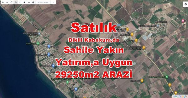 DİKİLİ KABAKUMDA,DA SATILIK TARIMA UYGUN 29250m2 TARLA