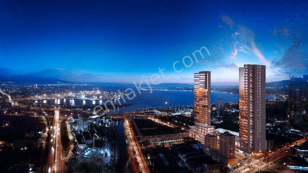 Bayraklı Ventus Tower'da Deniz Manzaralı Köşe Satılık Ofis