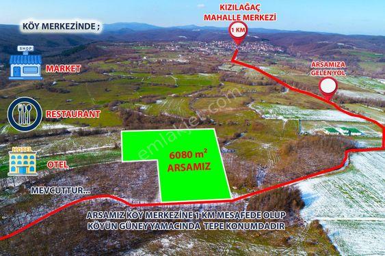 ATLAS'DAN KIZILAĞAÇTA YATIRIMCIYA 6080 m2 MÜSTAKİL TAPULU TARLA