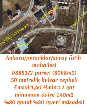 Sahibinden ön görünüm alanında 50 m bulvar cepheli (ticari+konut)