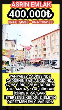 YAHYABEY CADDESİNDECADDENİN BAŞLANGICINDA47 m GİRİŞ + 25 m