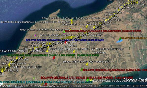 GELİBOLU BOLAYIR DA İMAR SAHASINDA 10.400,00 M KARE TARLA