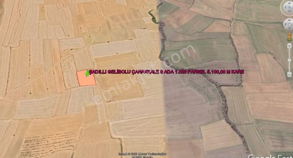 GELİBOLU ŞADILLI DA SAROS MANZARALI  5.100,00 M KARE TARLA