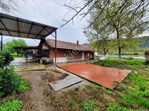 Fethiye Göcek İnlice de 700 m2 arsada ev ve restaurant satılık