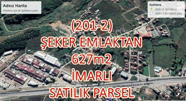 201-2  ŞEKER EMLAKTAN NURİYE MAHALLESİNDE 627m2 SATILIK PARSEL
