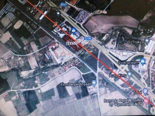 EDİRNE ÖZSOY EMLAK'DAN KİRİŞHANE'DE TİCARİ İMARLI 4700 M2 ARSA