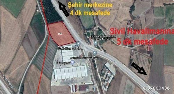 Sahibinden  Havaalanı yolu ile Sanayi Yolu Arasında, Merkezi,İşyerine uygun