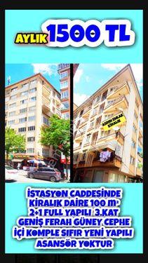 İSTASYON CADDESİNDEKİRALIK DAİRE 100 m2+1 FULL YAPILI 3KAT